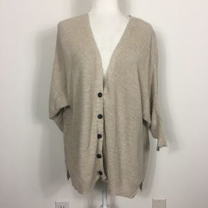 American Eagle Tan Button Front Cardigan Sweater